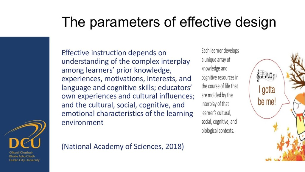 The parameters of effective design Effective in...