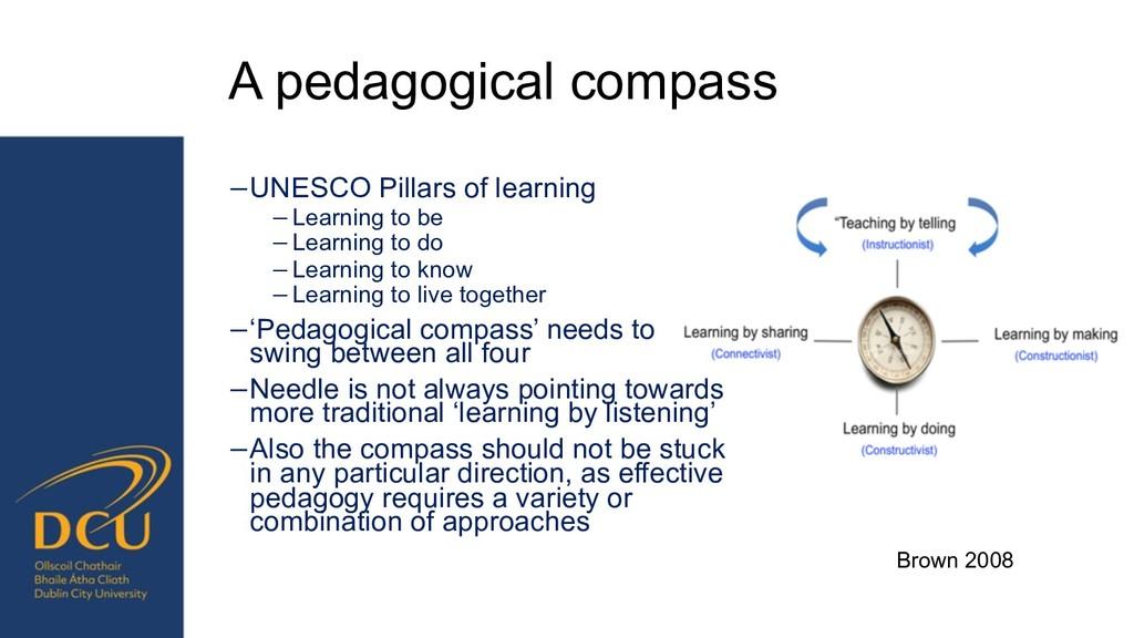 Brown 2008 A pedagogical compass −UNESCO Pillar...