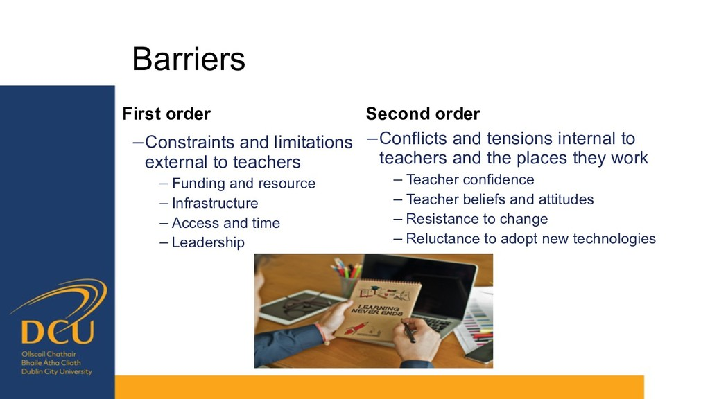 Barriers Second order −Conflicts and tensions i...