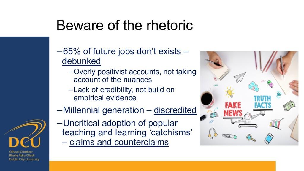 Beware of the rhetoric −65% of future jobs don'...