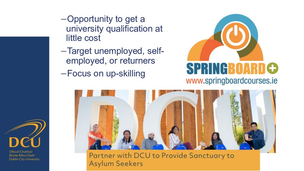 −Opportunity to get a university qualification ...