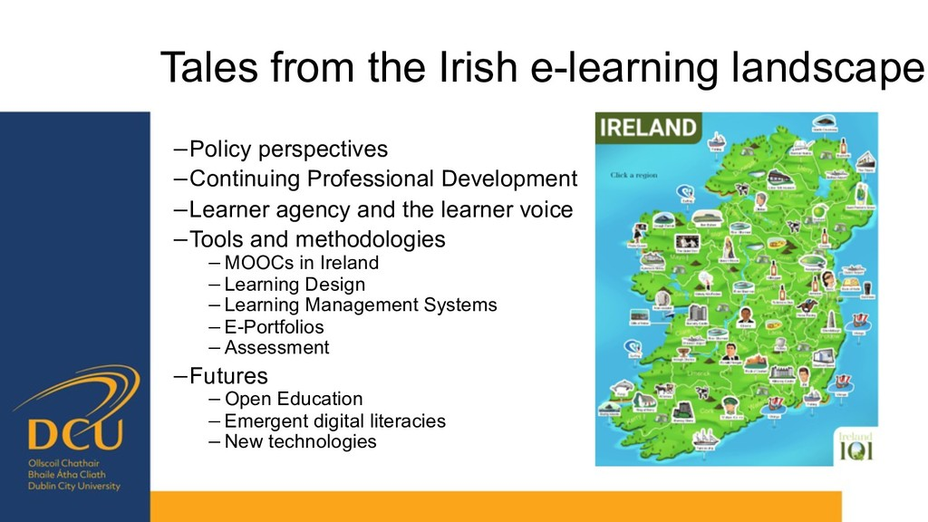 Tales from the Irish e-learning landscape −Poli...