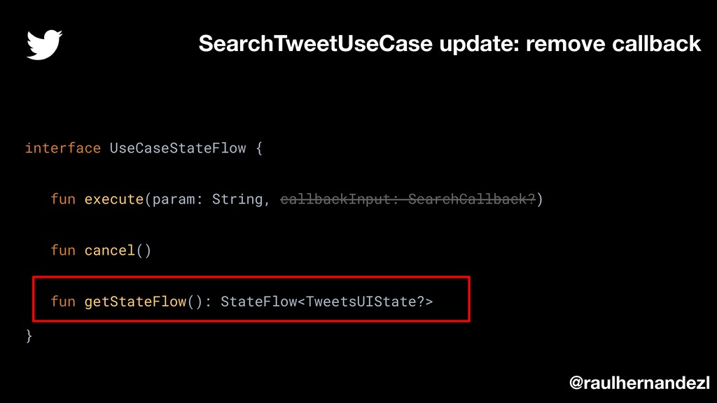 SearchTweetUseCase update: remove callback inte...