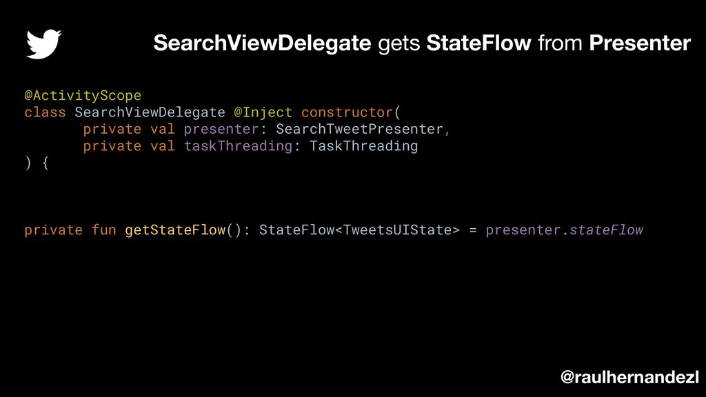 SearchViewDelegate gets StateFlow from Presente...