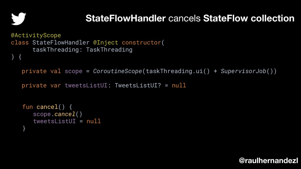 StateFlowHandler cancels StateFlow collection @...