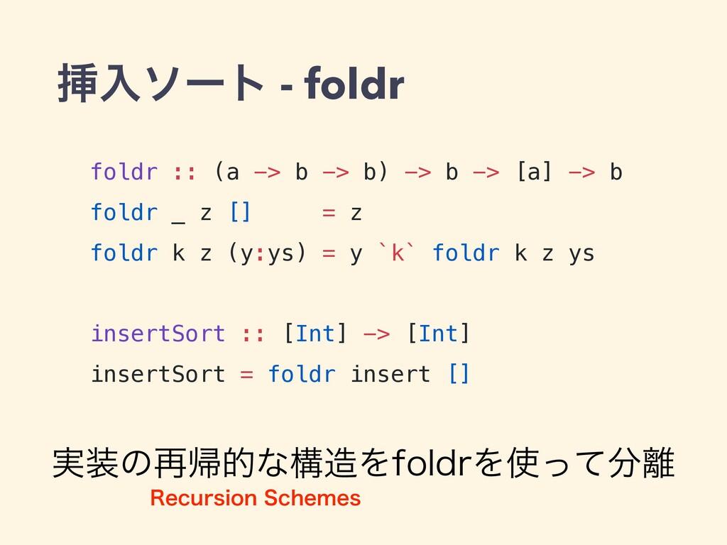 ૠೖιʔτ - foldr foldr :: (a -> b -> b) -> b -> [a...