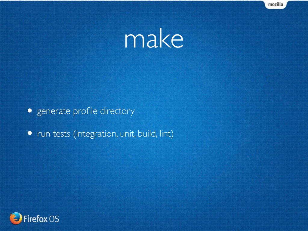 • generate profile directory	 