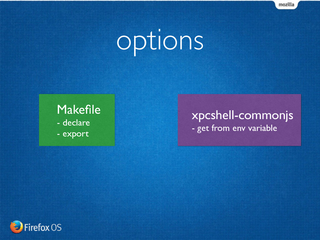 options Makefile	 