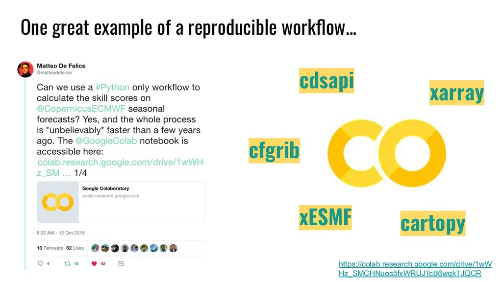 One great example of a reproducible workflow... ...