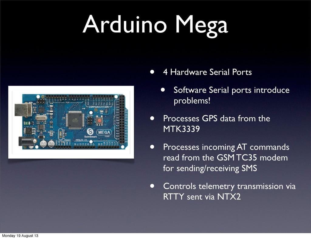 Arduino Mega • 4 Hardware Serial Ports • Softwa...