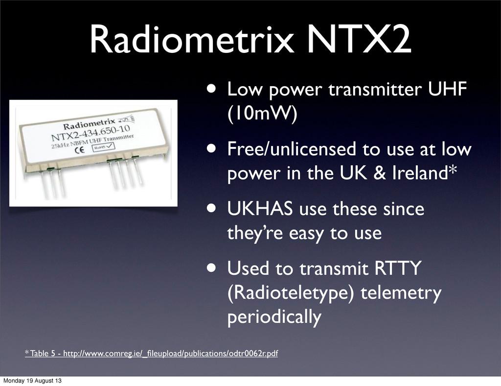Radiometrix NTX2 • Low power transmitter UHF (1...
