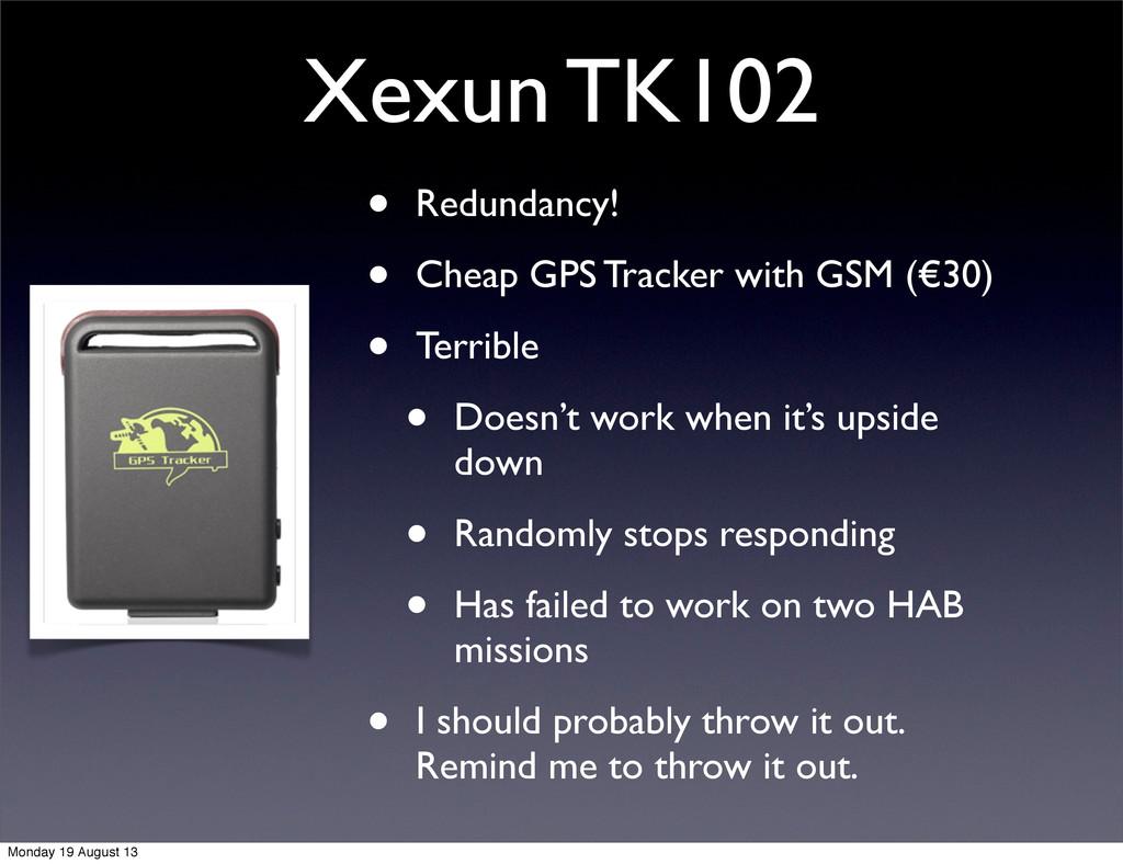 Xexun TK102 • Redundancy! • Cheap GPS Tracker w...