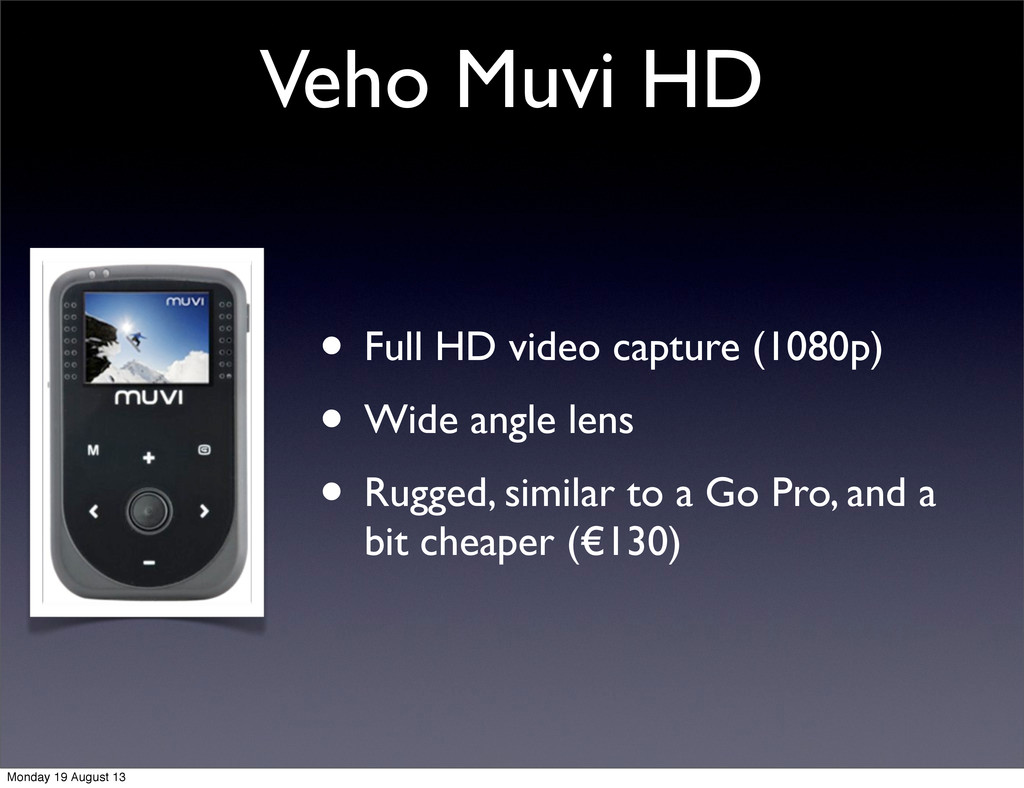 Veho Muvi HD • Full HD video capture (1080p) • ...