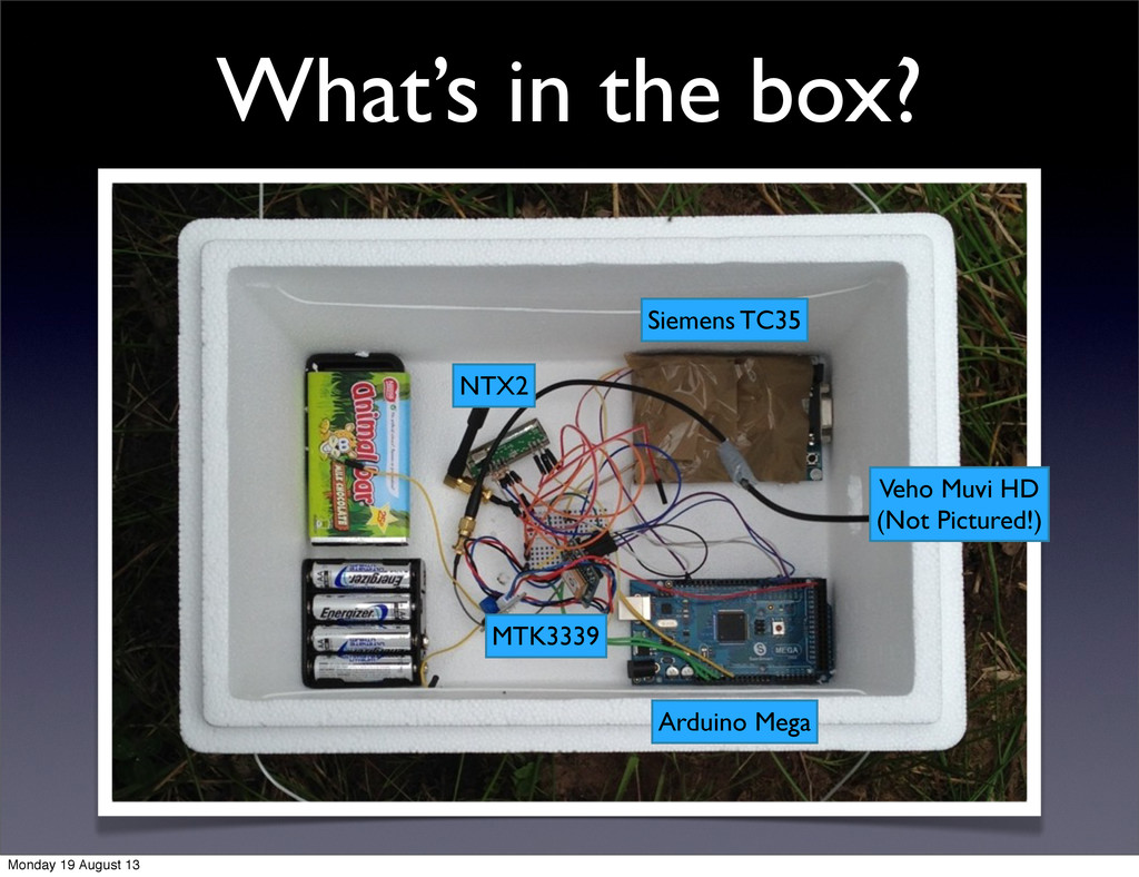 What's in the box? Arduino Mega Siemens TC35 NT...