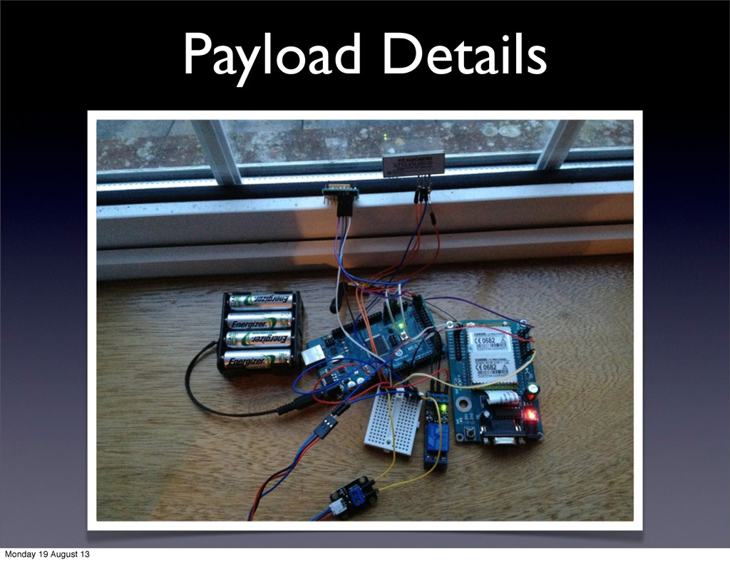 Payload Details Monday 19 August 13