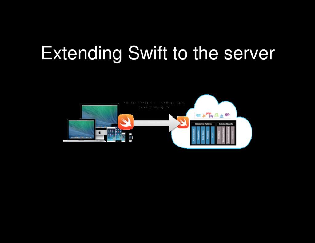 Extending Swift to the server
