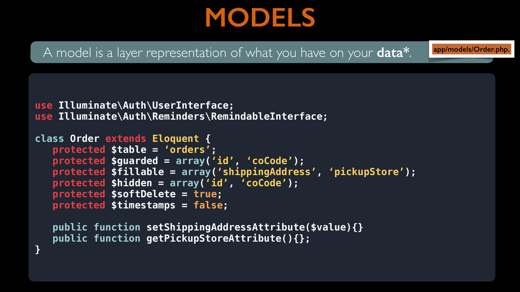 MODELS A model is a layer representation of wha...