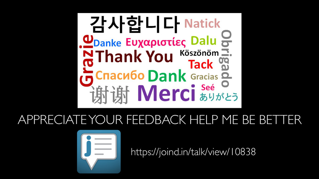 APPRECIATE YOUR FEEDBACK HELP ME BE BETTER http...