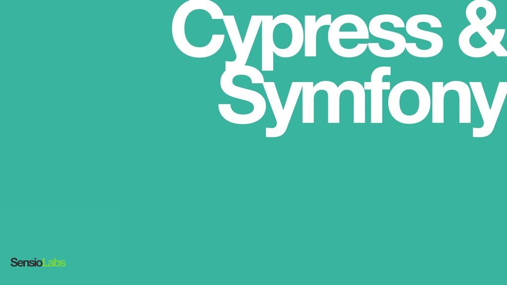Cypress& Symfony SensioLabs
