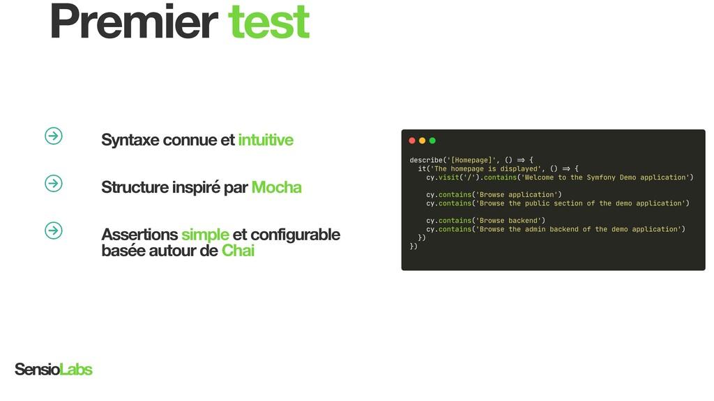 university.sensiolabs.com Premier test Syntaxe ...