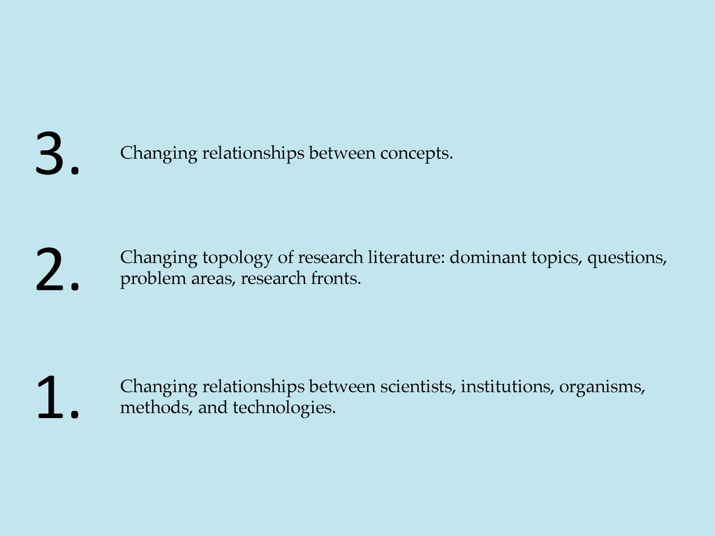 Changing relationships between scientists, inst...