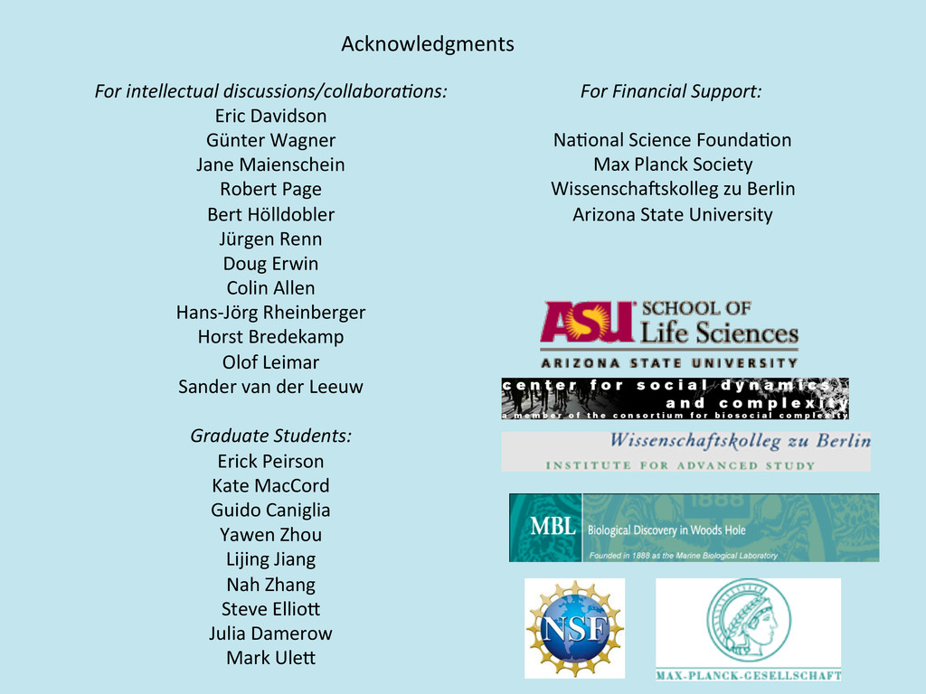 Acknowledgments  For intellectual disc...