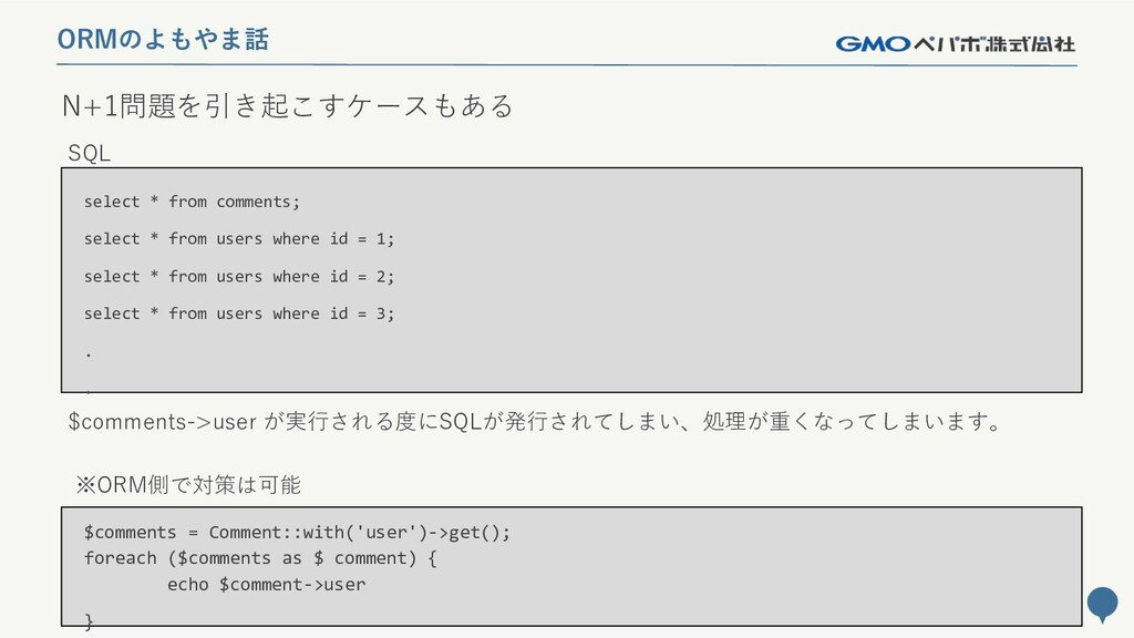 232 N+1問題を引き起こすケースもある ORMのよもやま話 select * from c...