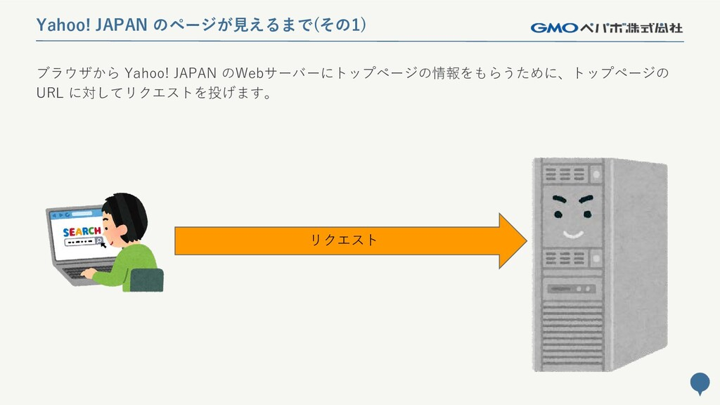 29 Yahoo! JAPAN のページが見えるまで(その1) ブラウザから Yahoo! J...