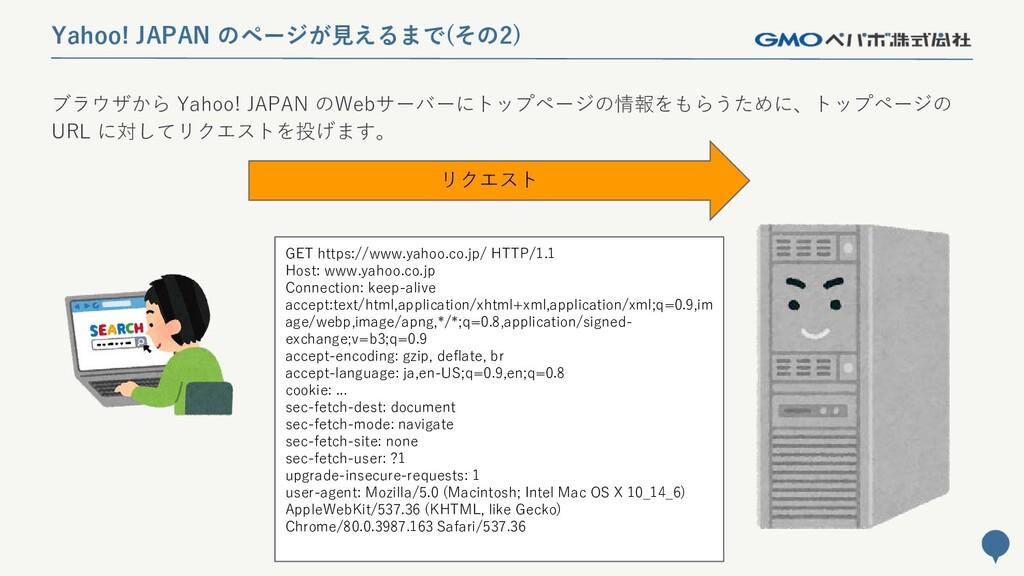 30 Yahoo! JAPAN のページが見えるまで(その2) ブラウザから Yahoo! J...