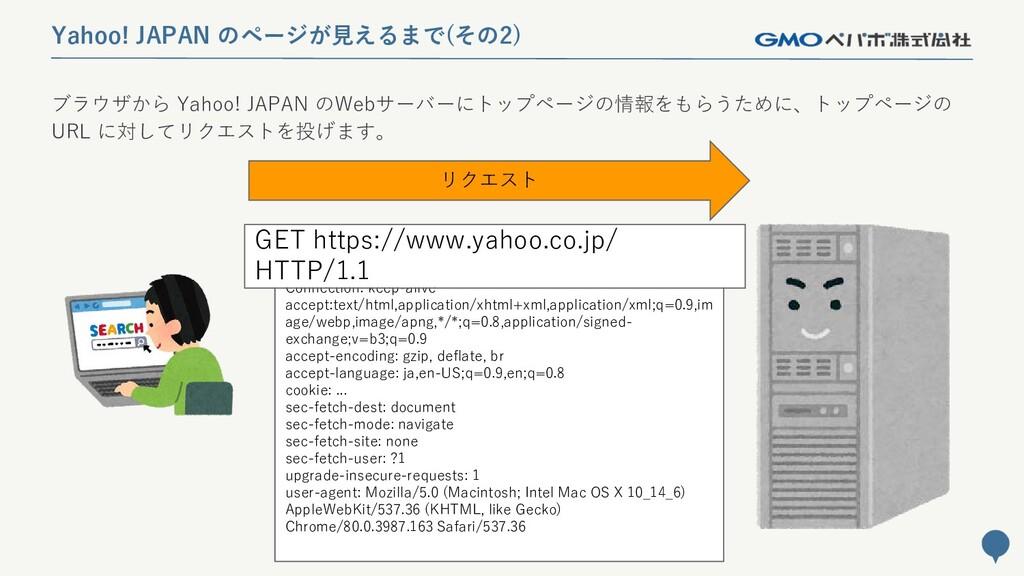 31 Yahoo! JAPAN のページが見えるまで(その2) ブラウザから Yahoo! J...