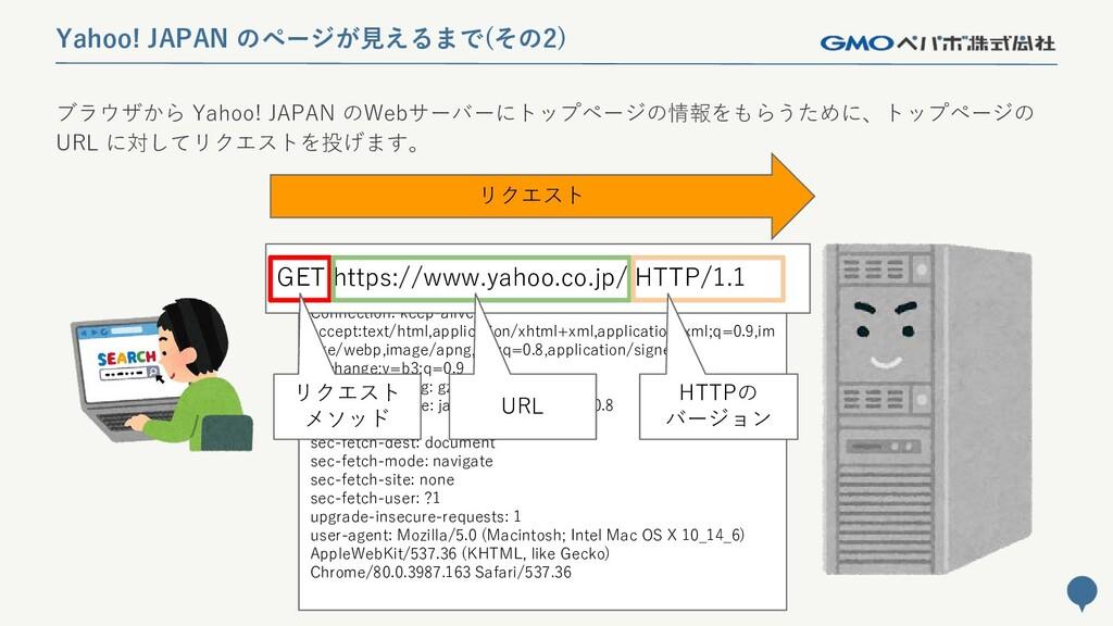 32 Yahoo! JAPAN のページが見えるまで(その2) ブラウザから Yahoo! J...