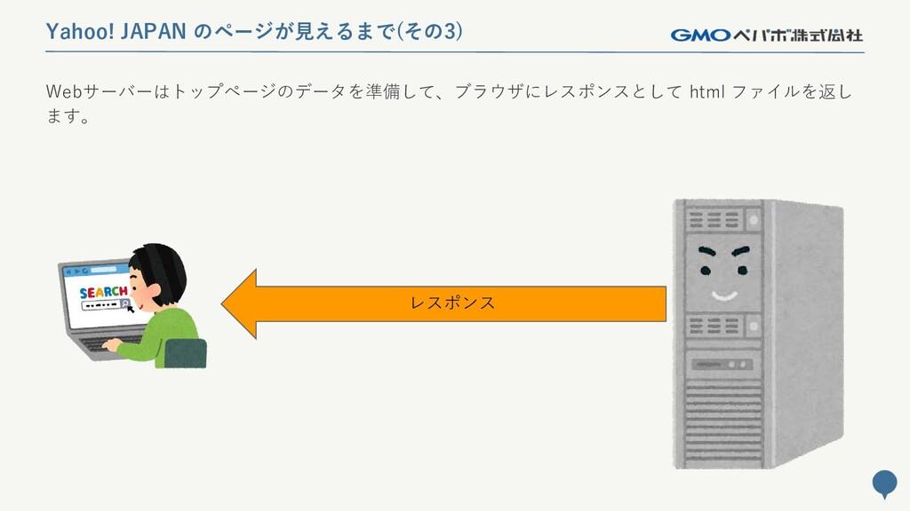 34 Yahoo! JAPAN のページが見えるまで(その3) Webサーバーはトップページの...