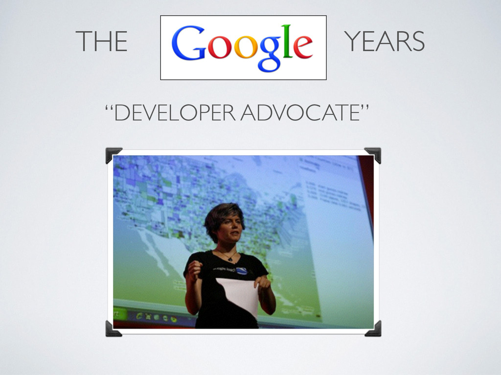 """DEVELOPER ADVOCATE""	 