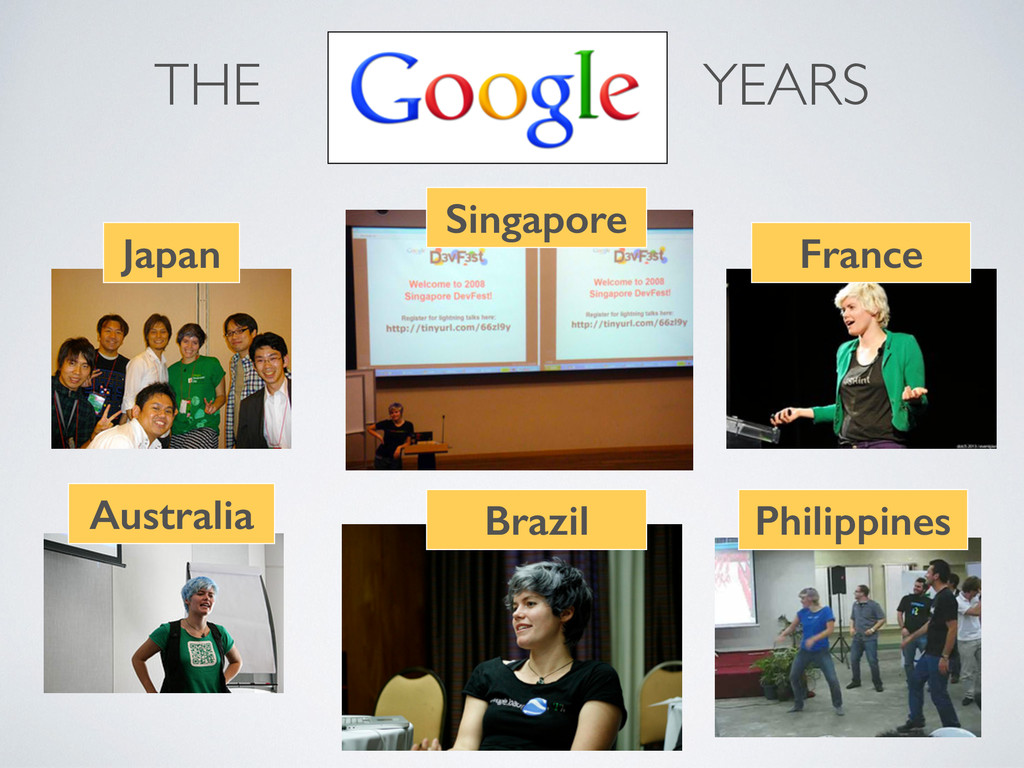 THE YEARS  Japan Australia Singapore France B...