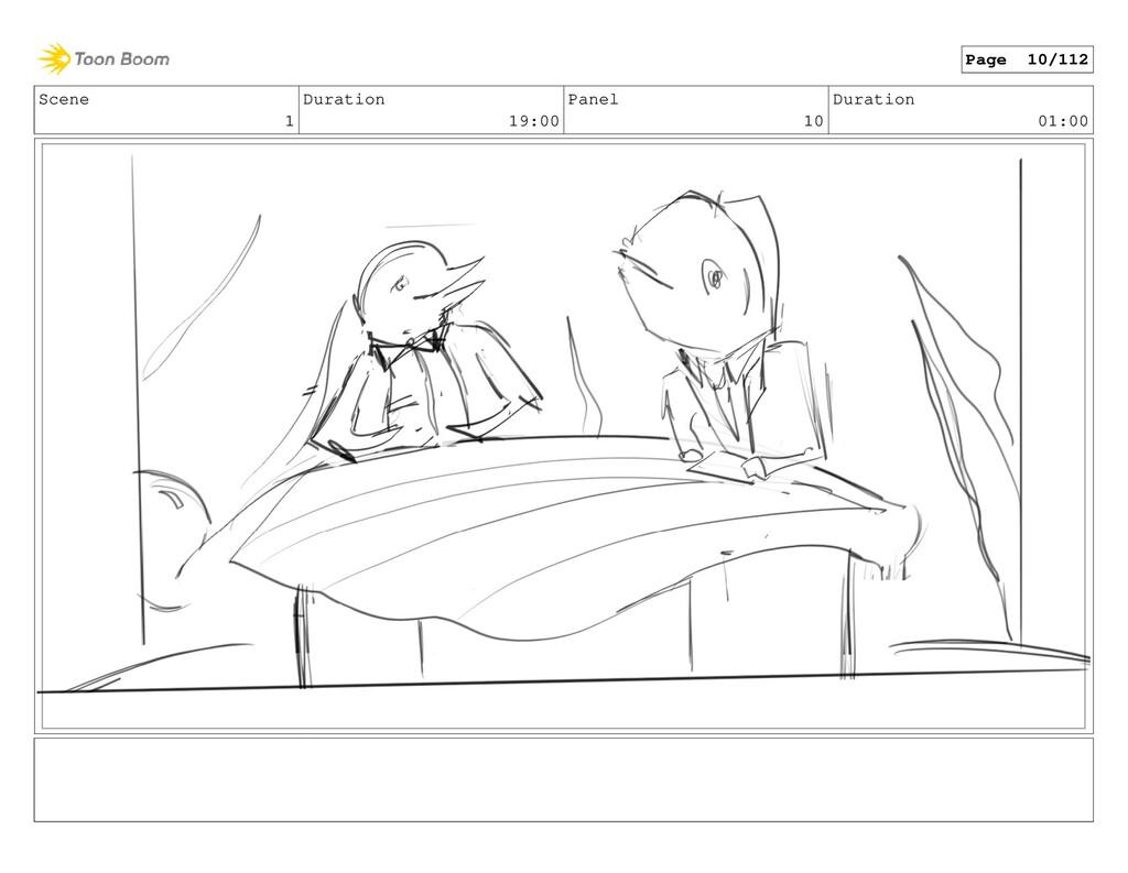 Scene 1 Duration 19:00 Panel 10 Duration 01:00 ...