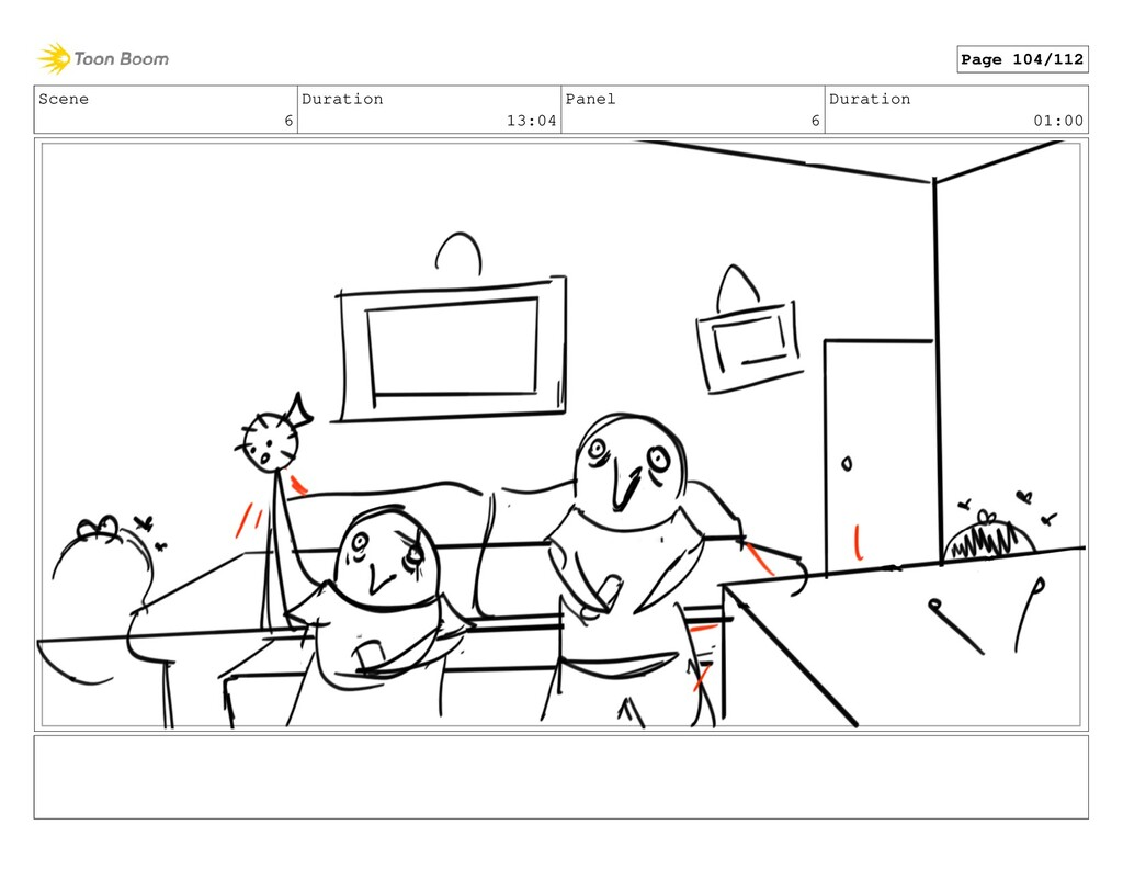 Scene 6 Duration 13:04 Panel 6 Duration 01:00 P...