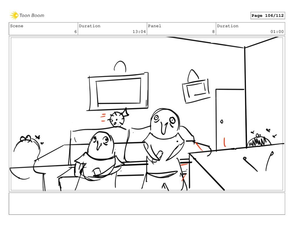 Scene 6 Duration 13:04 Panel 8 Duration 01:00 P...