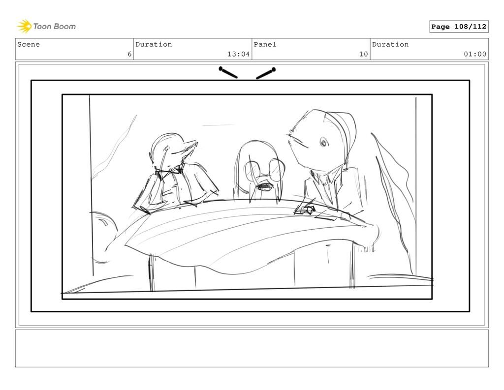 Scene 6 Duration 13:04 Panel 10 Duration 01:00 ...
