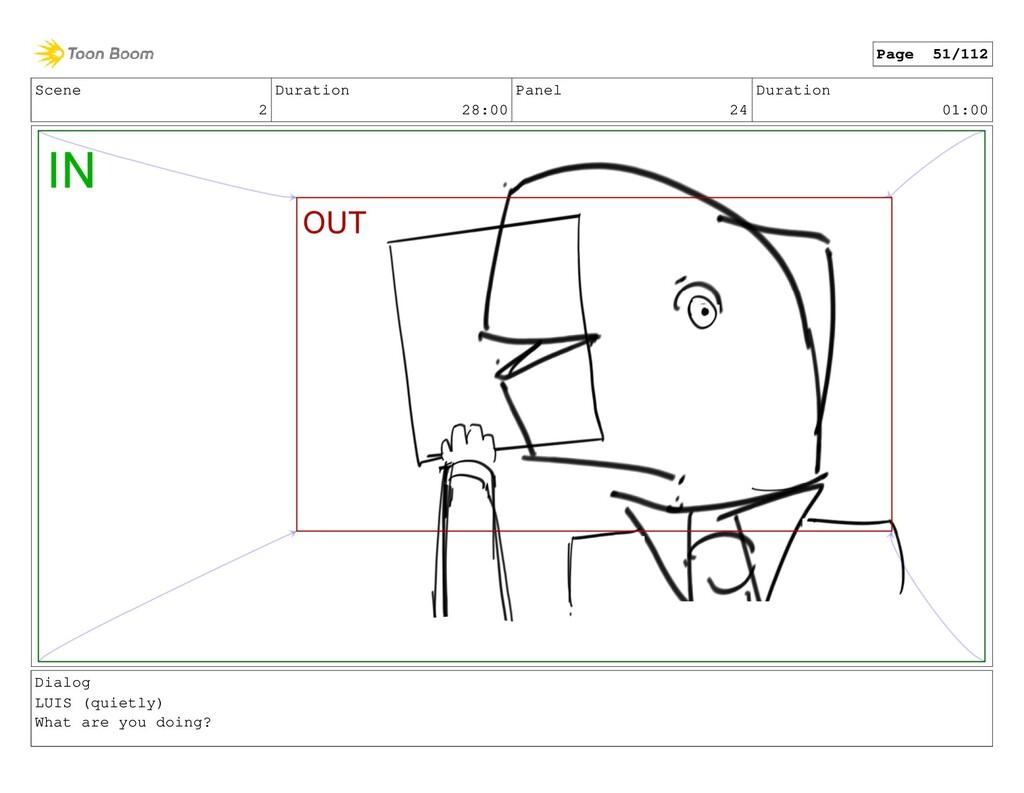 Scene 2 Duration 28:00 Panel 24 Duration 01:00 ...