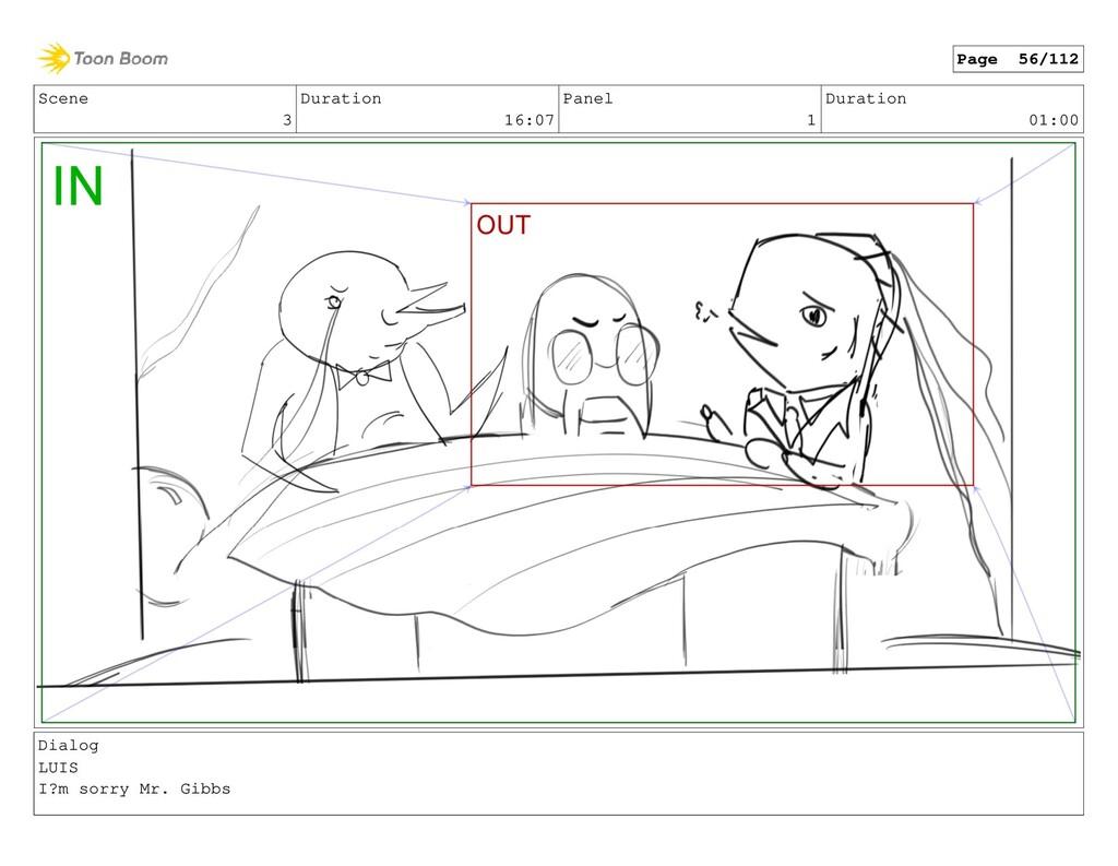 Scene 3 Duration 16:07 Panel 1 Duration 01:00 D...