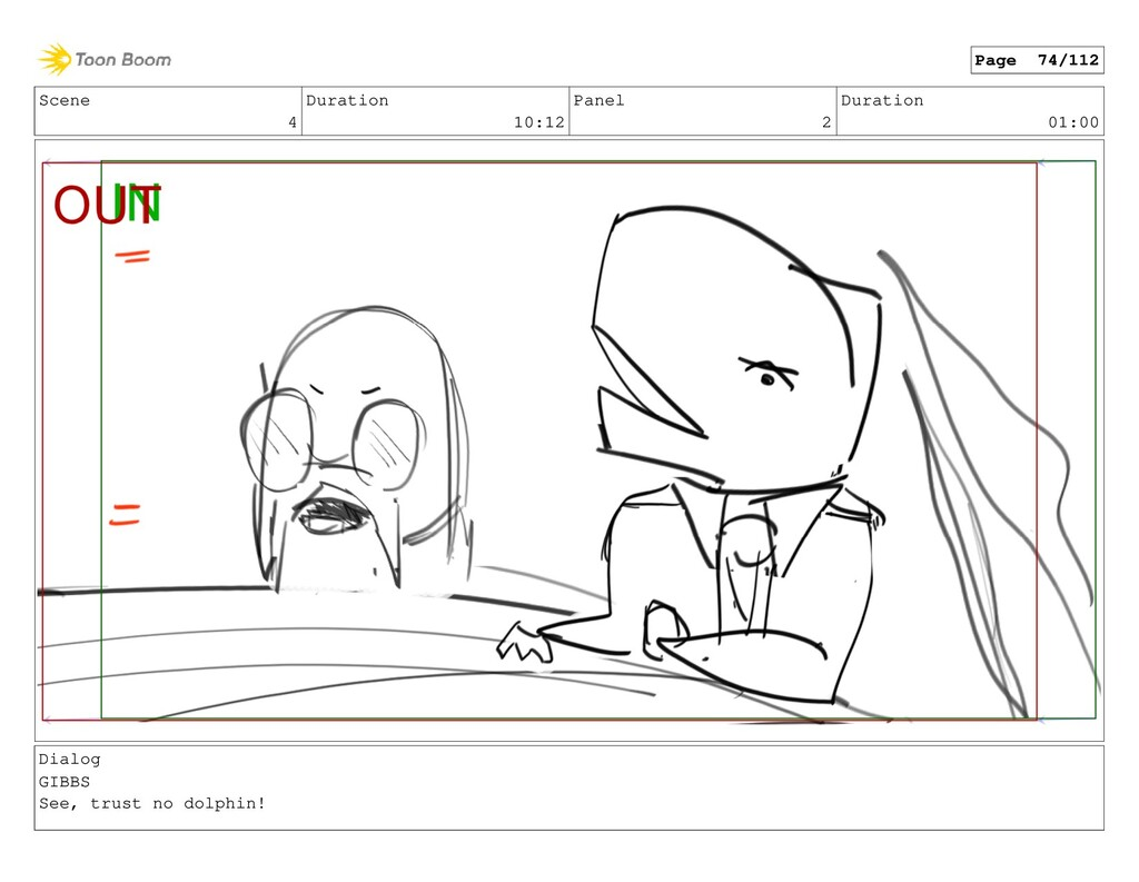 Scene 4 Duration 10:12 Panel 2 Duration 01:00 D...