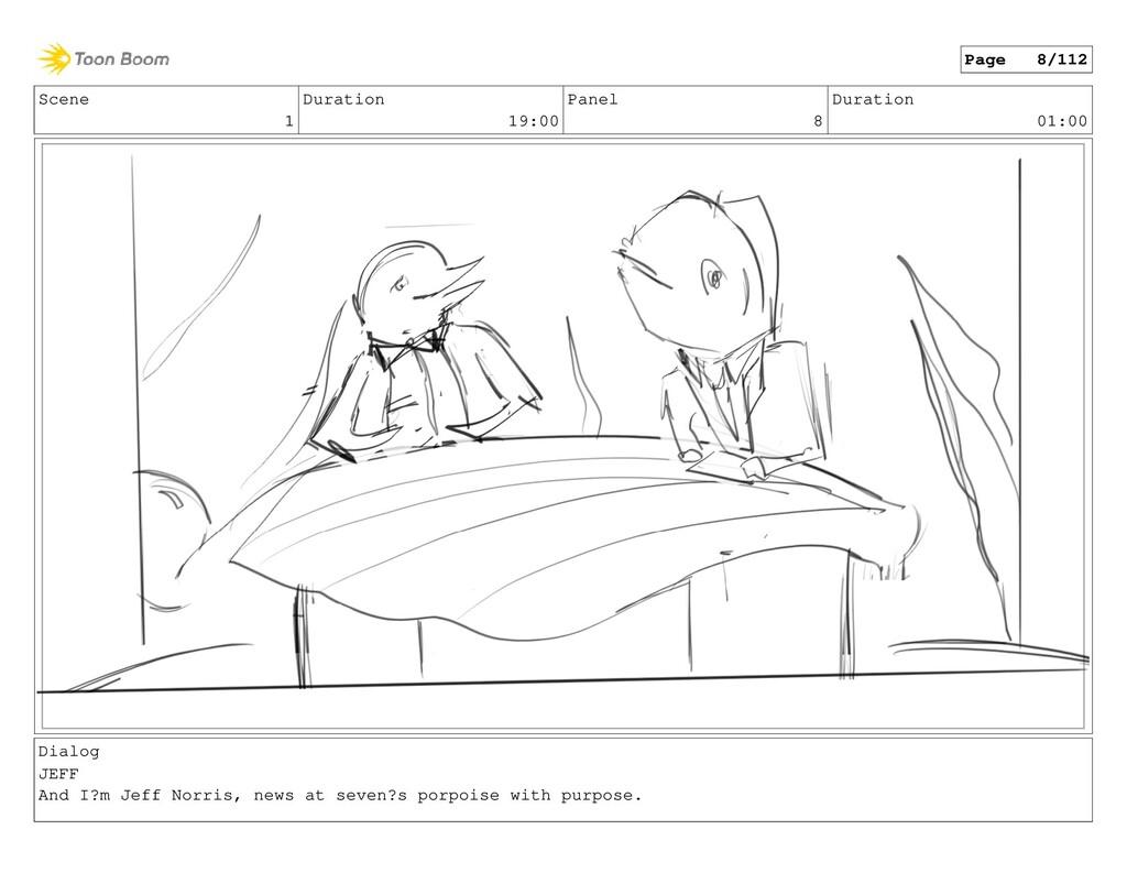 Scene 1 Duration 19:00 Panel 8 Duration 01:00 D...