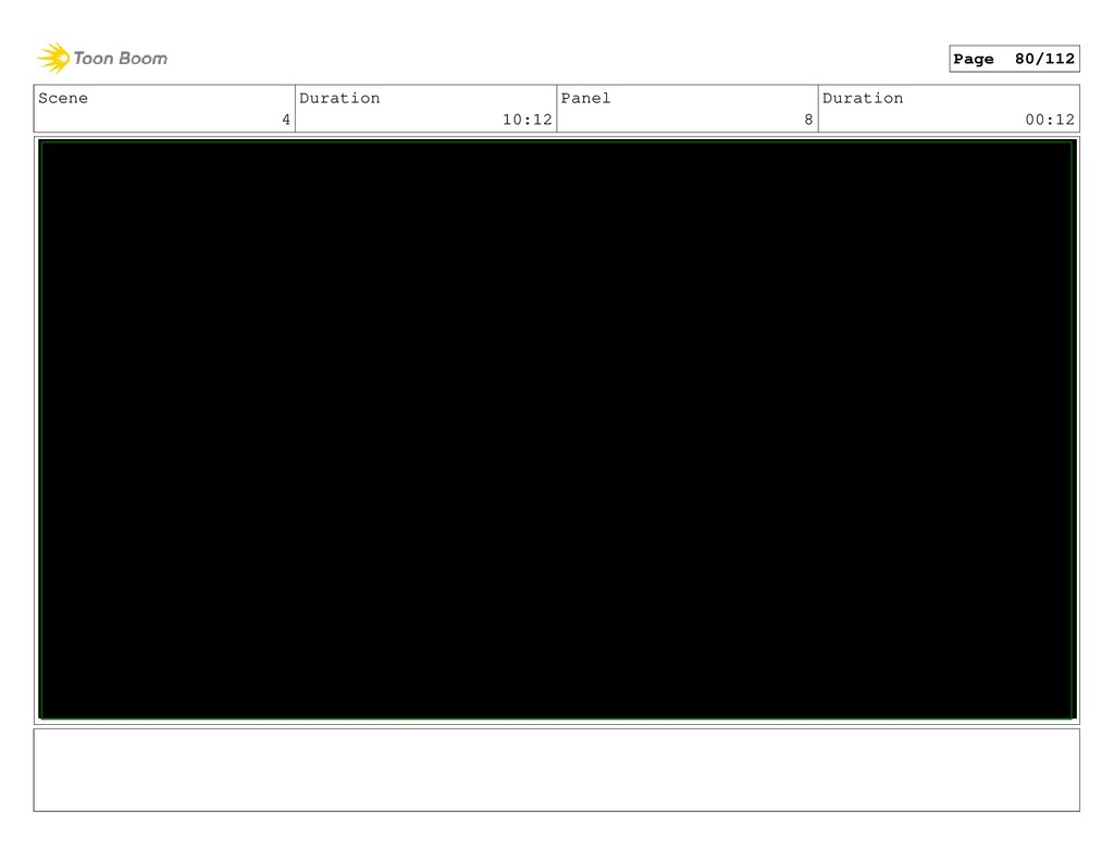 Scene 4 Duration 10:12 Panel 8 Duration 00:12 P...