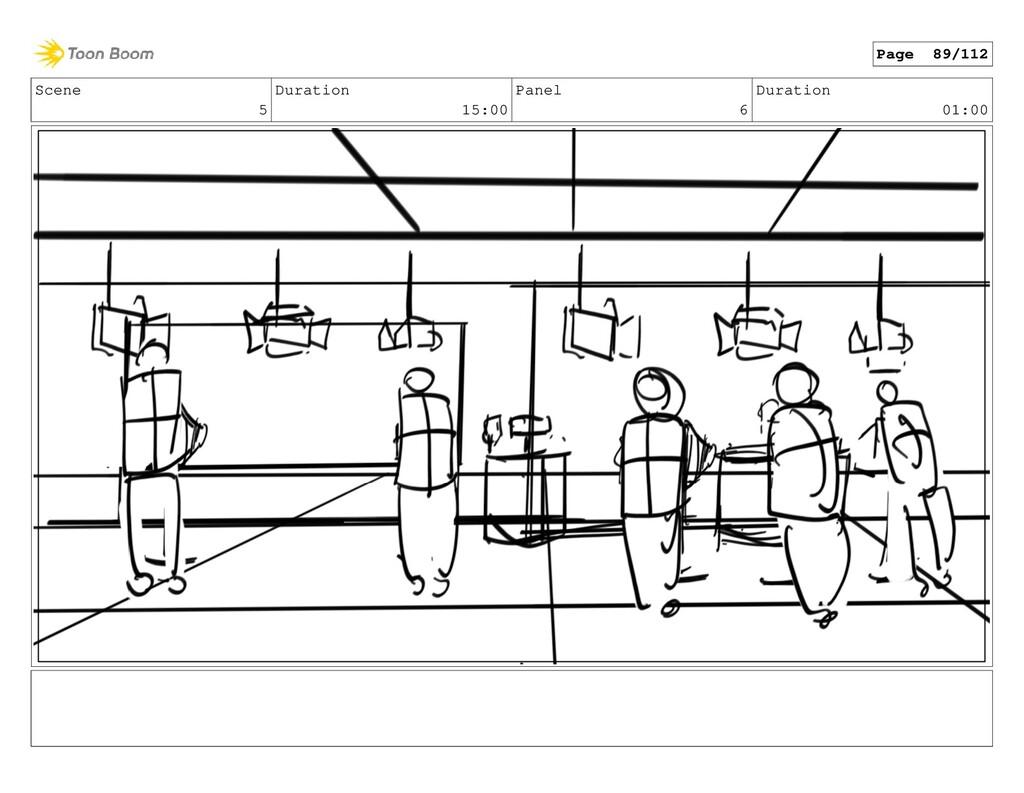 Scene 5 Duration 15:00 Panel 6 Duration 01:00 P...