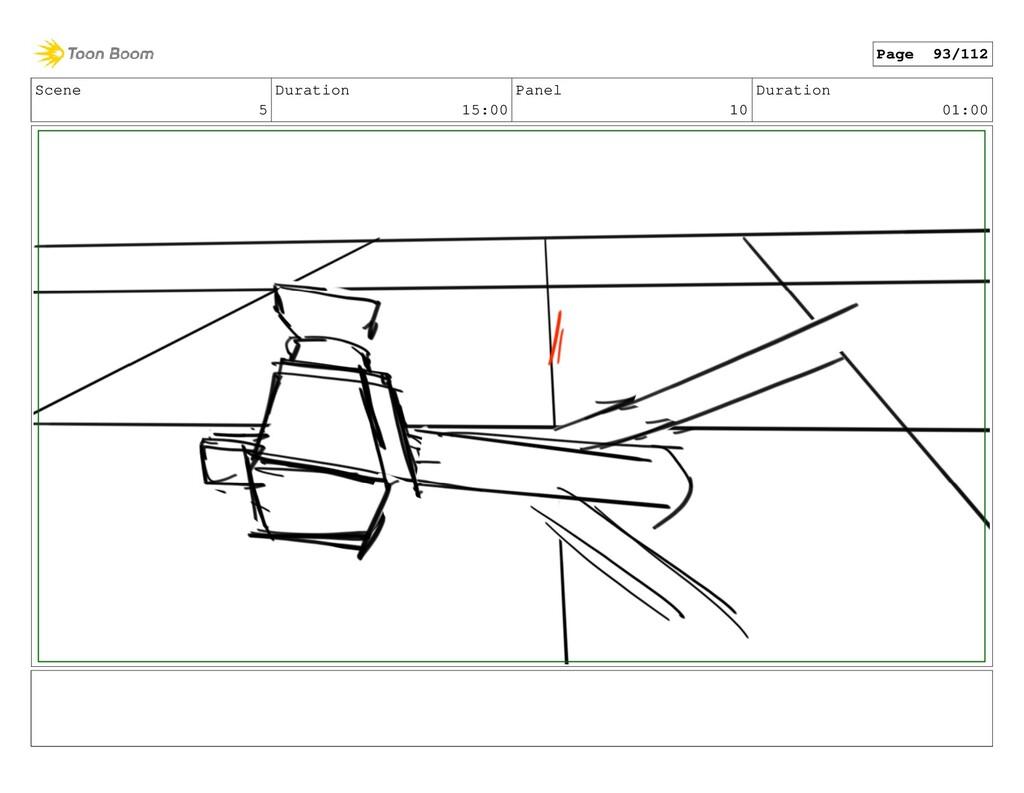 Scene 5 Duration 15:00 Panel 10 Duration 01:00 ...