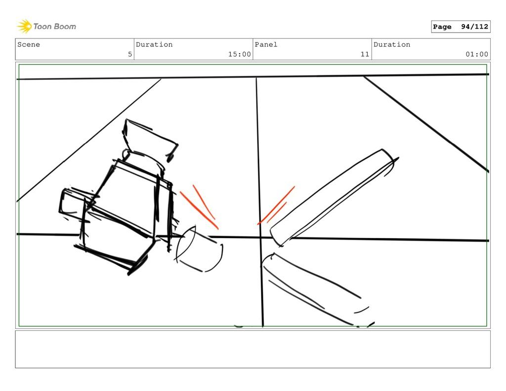 Scene 5 Duration 15:00 Panel 11 Duration 01:00 ...