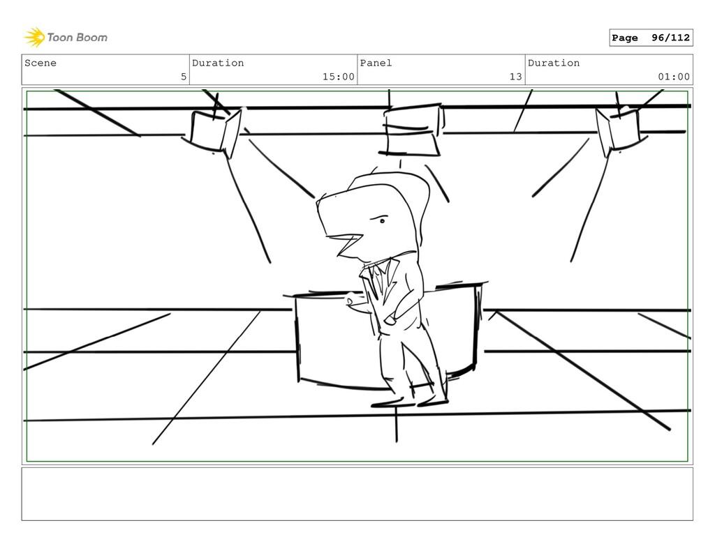 Scene 5 Duration 15:00 Panel 13 Duration 01:00 ...