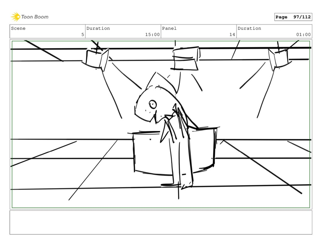 Scene 5 Duration 15:00 Panel 14 Duration 01:00 ...