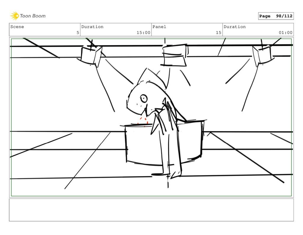 Scene 5 Duration 15:00 Panel 15 Duration 01:00 ...