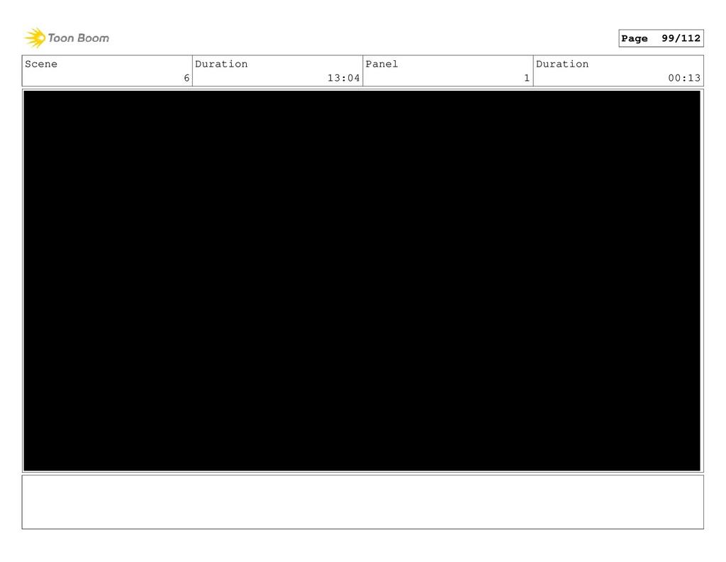 Scene 6 Duration 13:04 Panel 1 Duration 00:13 P...